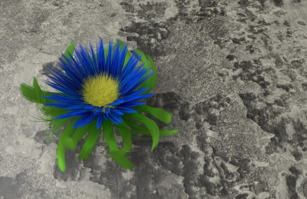 Blue Flower of Resilience