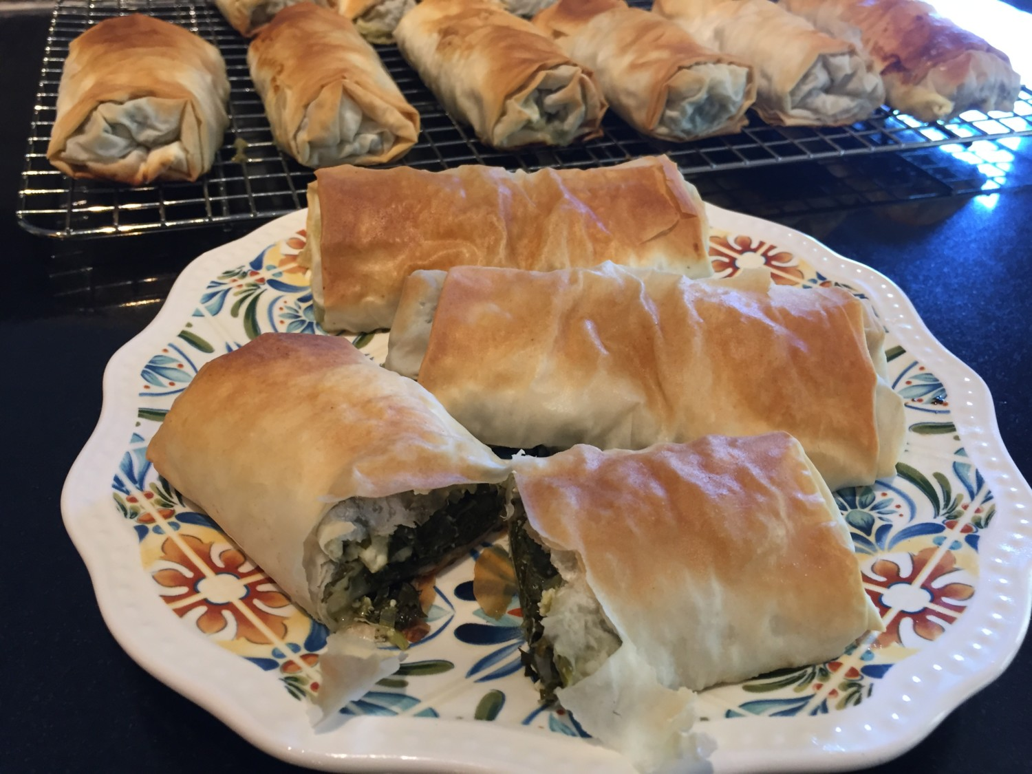 Spinach Phyllo Rolls